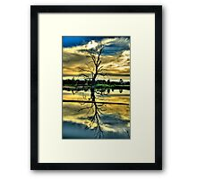 Meditation - Wonga Wetlands , Albury NSW - The HDR Experience Framed Print