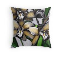 An Orchid Affair Throw Pillow