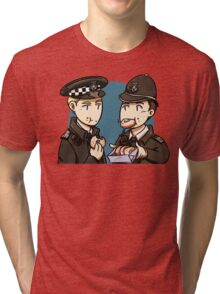 Hot Fuzz and donuts Tri-blend T-Shirt