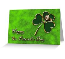 St. Patrick's Day Clover Ferret Greeting Card