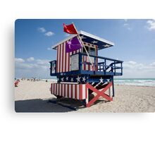 Life Guard House Canvas Print