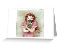 The Flower Thief Greeting Card
