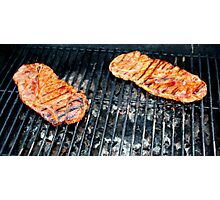 Pork on the Grill Photographic Print