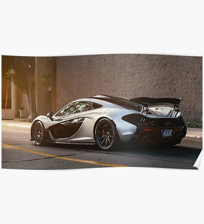 McLaren P1 in Silver Poster