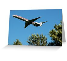 McDonald Douglas MD-80  Greeting Card