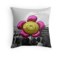 Happy balloon Throw Pillow