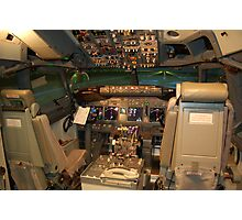 Boeing 737NG Cockpit Photographic Print