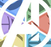 Team Avengers Assemble - Circular Sticker