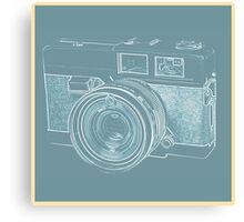 Vintage 35mm Film Camera Blue Pop Art Canvas Print