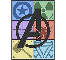 Team Avengers Assemble - Rectangular Design Photographic Print