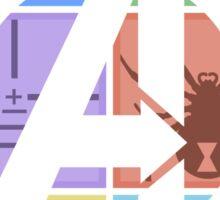 Team Avengers Assemble - Rectangular Design Sticker