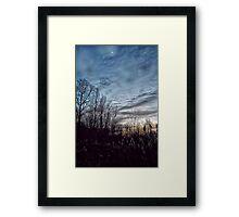November Twilight Framed Print