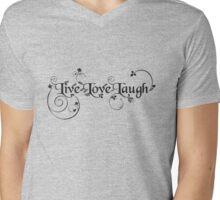 Live Love Laugh Mens V-Neck T-Shirt