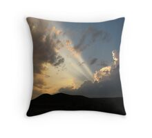 Rays From Above Throw Pillow