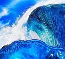 Sapphire Blue Ocean Wave by bloomingvine