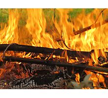 Fire - Bamboo Photographic Print