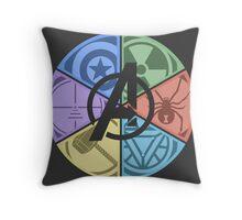 Team Avengers Assemble - Circular Throw Pillow