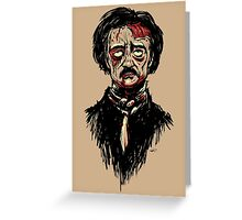 Edgar Allan Poe Zombie Greeting Card