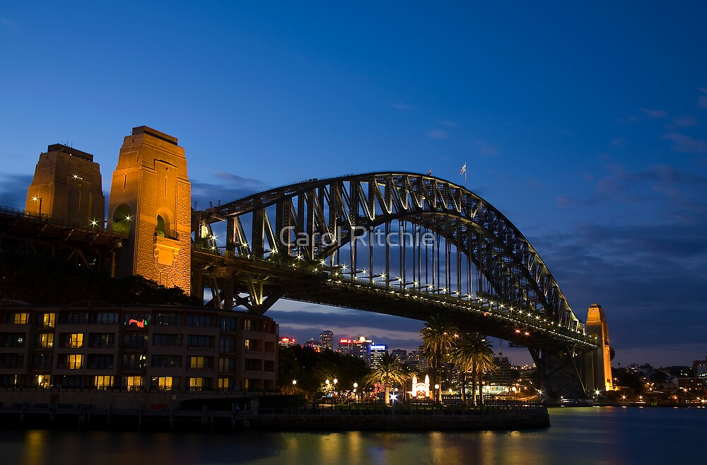 Harbour Bridge at Night by Carol Ritchie