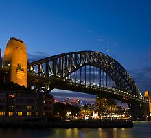 Harbour Bridge at Night by Carol Ritchie