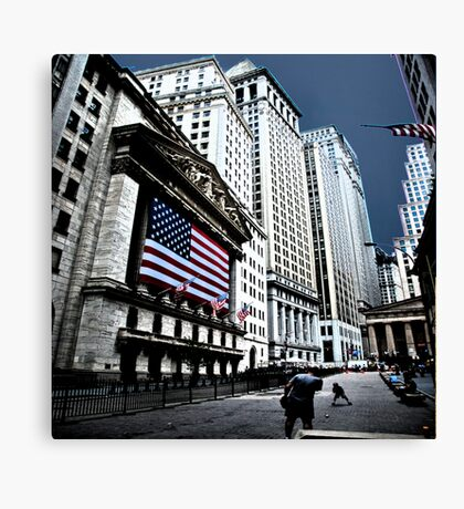 A Game of Catch at the Stock Exchange Canvas Print