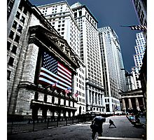 A Game of Catch at the Stock Exchange Photographic Print