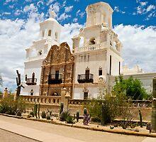Mission San Xavier del Bac by John Weakly