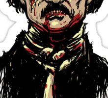 Edgar Allan Poe Zombie Sticker