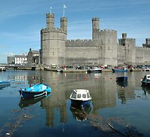 Caernarfon Castle - North Wales - UK by Michael Tapping