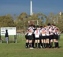The Geelong Rams Huddle by JAKShots-Sports