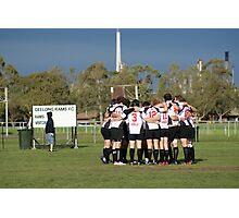 The Geelong Rams Huddle Photographic Print