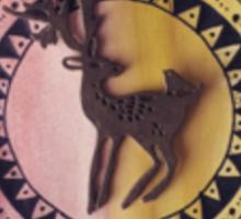 Deer Mandala (Transparent) Sticker