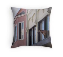 Dog in Window 1 Throw Pillow
