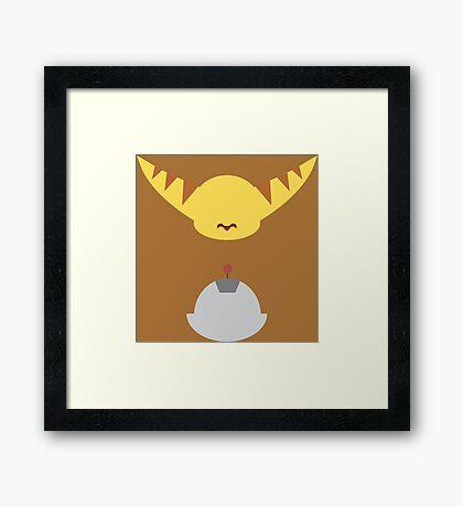 Ratchet & Clank - Minimal Design Framed Print