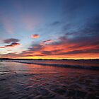 Red Sunrise, Lauderdale, Tasmania by David Jamrozik