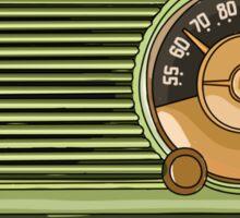 Retro green radio Sticker