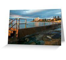 Sunrise Swim Greeting Card