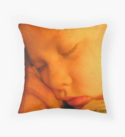 My sleeping sweet baby girl.... Throw Pillow