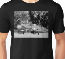 TILT SHIFT DISTORTION AND THE TWO LEGGED TABLE Unisex T-Shirt