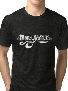 Moneyrunner - Logo White Tri-blend T-Shirt