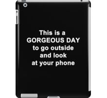 This is a Gorgeous Day iPad Case/Skin