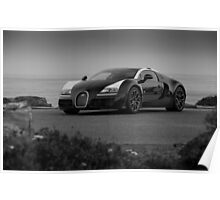 Bugatti Veyron: One of One B&W Poster