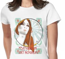 Feature  in Art Nouveau - sticker Womens Fitted T-Shirt