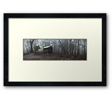 Howqua Gap hut Framed Print