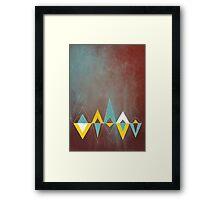 Native Triangles Framed Print