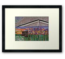 Agapanthus Sunset Framed Print