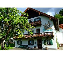 Typical Bavarian House Photographic Print