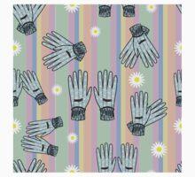 Seamless Hand-Drawn Gardening Gloves Background T-Shirt