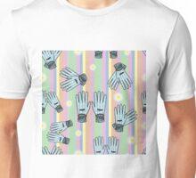 Seamless Hand-Drawn Gardening Gloves Background Unisex T-Shirt