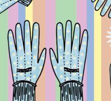 Seamless Hand-Drawn Gardening Gloves Background Sticker